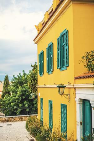נדלן באתונה - בית צהוב בקיפסלי